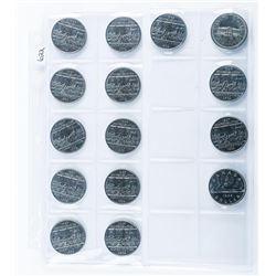 Group of (15) Canada Nickel Dollars