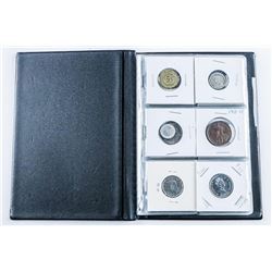 Stock Coin Book with 18 Coins, with Silver
