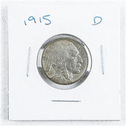 1915D USA Five Cents: Indian/Buffalo