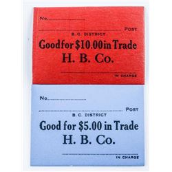 Scarce Hudson's Bay Company Fur Trade Scrips  $5 and $10 Denomination 630-676 Reg 249.95