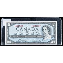 Bank of Canada 1954 5.00 Choice UNC BC39c