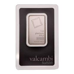 Suisse 1oz Fine Platinum Bar - Collector  Bullion.