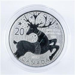 RCM 2012 REINDEER .9999 Fine Silver $20.00