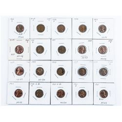 Group of (19) Lincoln USA 1 Cent