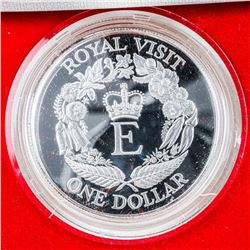 New Zealand 1986 Royal Visit Proof Silver  Dollar Coin.
