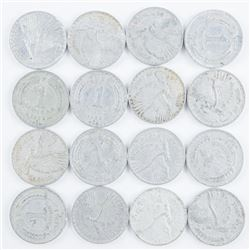 Estate Group Coins of Chile - (16) Aluminum