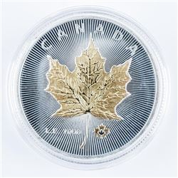 CANADA Maple Leaf Medallion Gold Plated and  Silver Plated LE/1000