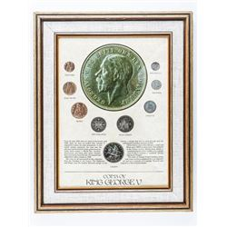 Coins of King George V Collector Frame 11x14