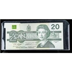 Bank of Canada 1991 20.00 Choice UNC BC58c