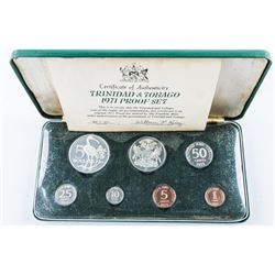 1971 Trinidad & Tabago Coin Set - Proof,  Original Box and COA. (XKE)