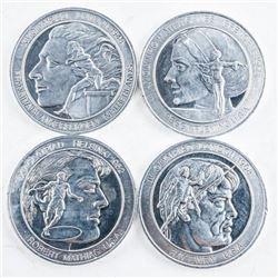 Lot (4) London 1948 Aluminum Medals