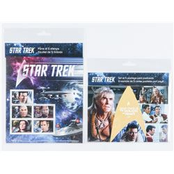 Group of (2) Star Trek Pane of 5 Collector  Stamps