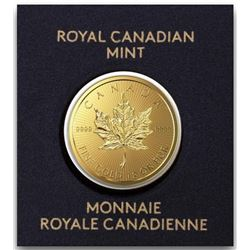 Royal Canadian Mint .9999 Fine Gold 50c Round  Maple. Original Mint Packaging, Very  Collectible.