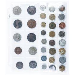 Lot (34) Estate World Coins.