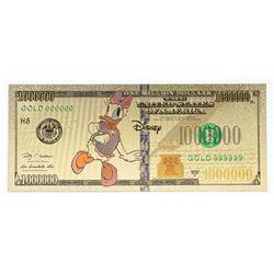 Disney 24kt Gold Leaf Novelty Note, Million  Dollar