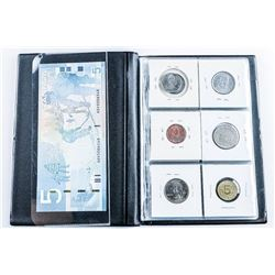 Starter Coin Collection Stock Book (18) Coins  with Silver Plus 1986 UNC 5.00