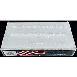 "Rare - Made in the USA .999 Fine Silver  Engelhard 100oz Bar. ""American's Tradition in  Precious Met"