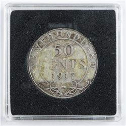 1917 NFLD Silver 50 Cents