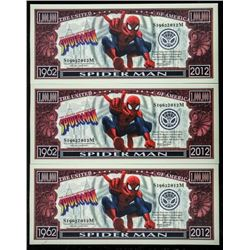 Group of (3) Spiderman US Collector Notes:  1962-2012