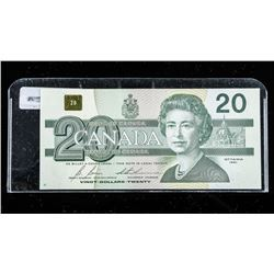 Bank of Canada 1991 $20.00 Note Choice UNC NO  BPN