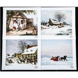 Cornelius Krieghoff LE/60 Giclee's - Set of  (4) Matched Numbers with C.O.A.