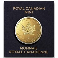 .9999 Fine Gold Royal Canadian Mint 50c  Maple. Original Mint Package, Very  Collectible.