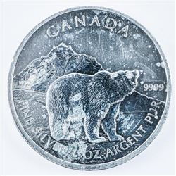 .999 Fine Silver Grizzly Bear $5.00 Coin