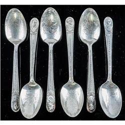 Estate - Group (6) Presidential Spoons, USA  'Silver'