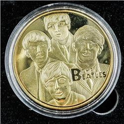 The Beatles - Collector Medallion 24kt Gold  Plated with C.O.A.