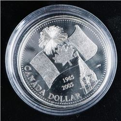 1965-2005 Commemorative Silver Dollar .999  Fine Silver Flag
