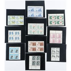 Group of (10) Canada Stamps Blocks (4)