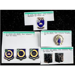 Group of (7) USA Distinctive Insignias  Various 'Infantry'