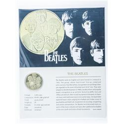 The Beatles 24kt Gold Plated Medallion with  C.O.A.