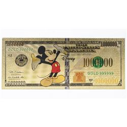 DISNEY Gold Leaf USA Novelty Note Million  Dollars