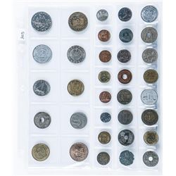 Group of 34 world Coins