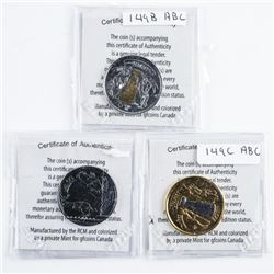 Lot (3) RCM Stanley Cup Dollar Coins