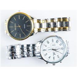 Pair Unisex Quartz Watches Large Dials