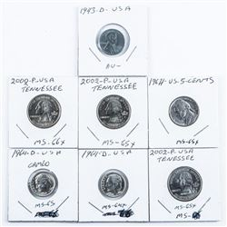 Group of (7) USA Coins