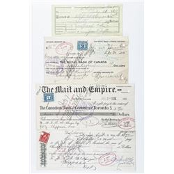 Group (4) Financial Documents Dated 1935 with  Excise Stamps