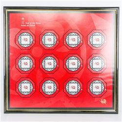 Canada Post - Chinese Year of the Horse  Stamps - Gallery Frame