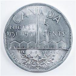 1751-1951 Large Aluminum 5 Cents