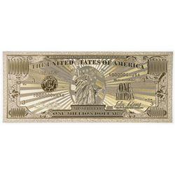 "24kt Gold Leaf USA ""One Million Dollar"" Note."