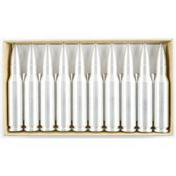 Silver Bullet Bullion (10) x .308 CAL. Silver  Bullets 2oz each = 20 oz ASW 'Scarce  Original Box'