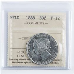 1888 NFLD Silver 50 Cent F12 ICCS