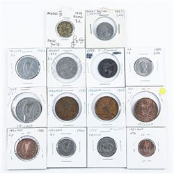 Group of (14) World Coins - Ireland, Great  Britain etc