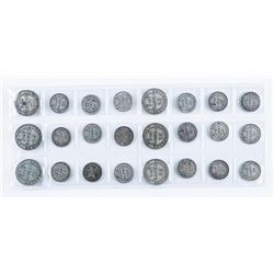 Group of (24) NFLD Silver Coins