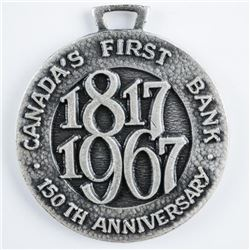 1817-1967 Canada's First Bank, 150th  Anniversary Medallion