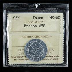 Canada Token MS60 Breton 658 ICCS