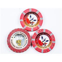 Lot (3) Casino Ttokens/Chips