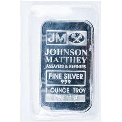 Johnson Matthey .999 Fine Silver 1oz Bar - No  Longer Produced - Collector Bullion.